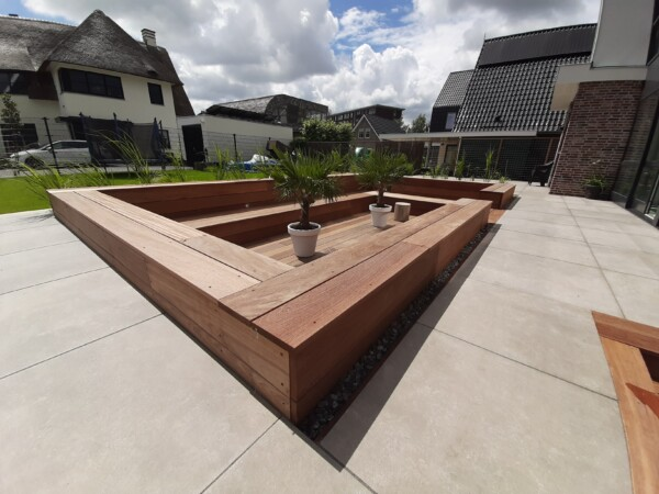 Tuinproject met zitkuil Zoetermeer